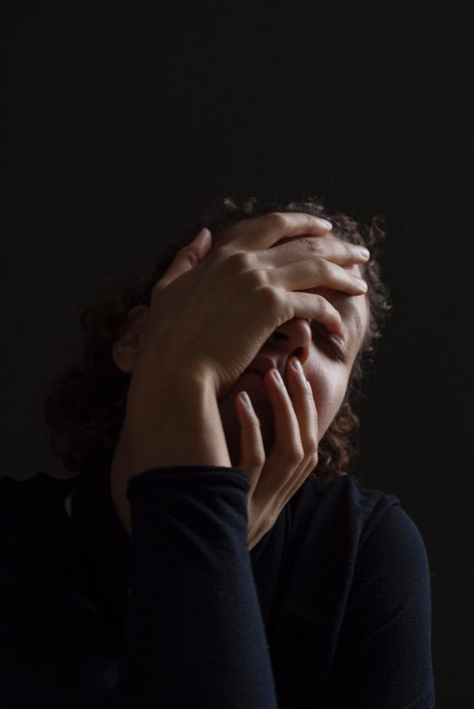woman in stress and anxiety