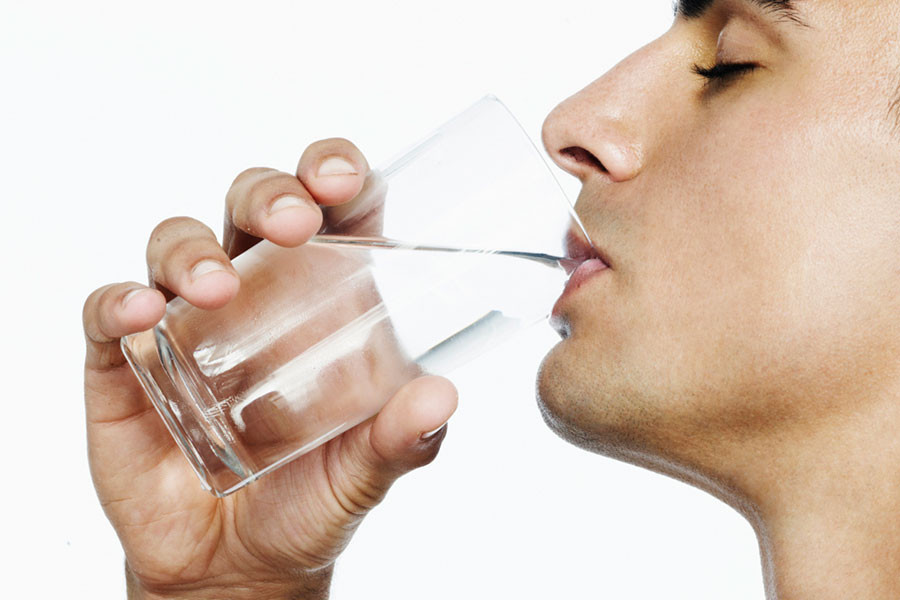 Drink at least 8 glasses of water daily