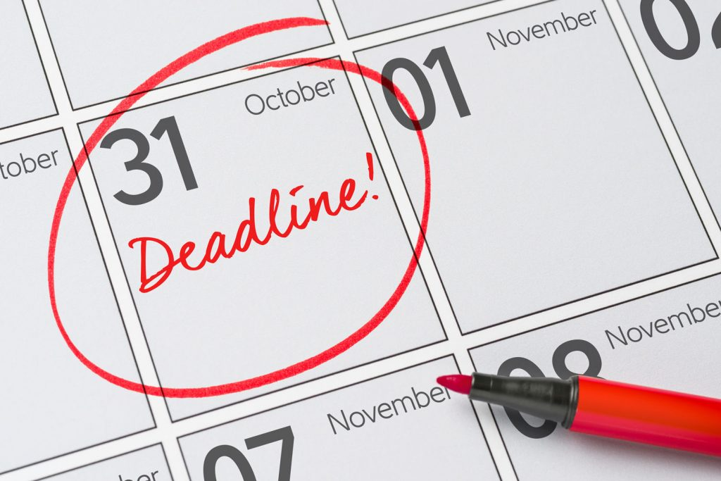 Have deadlines for your tasks
