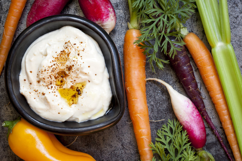 Carrots/Cucumber With Hummus