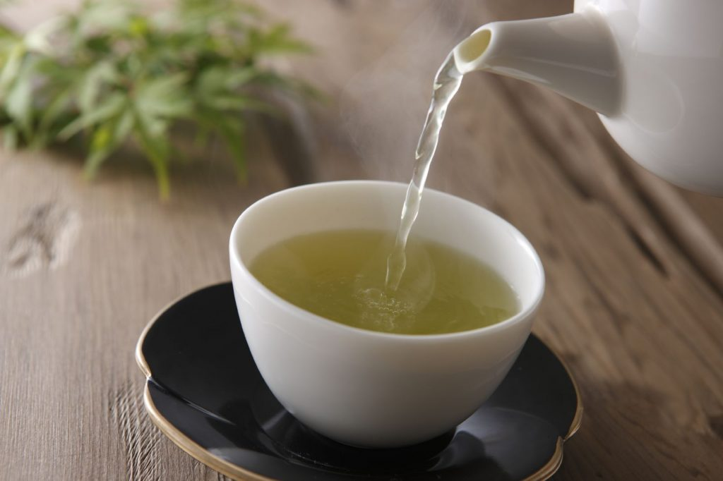 Drink a cup of green tea daily
