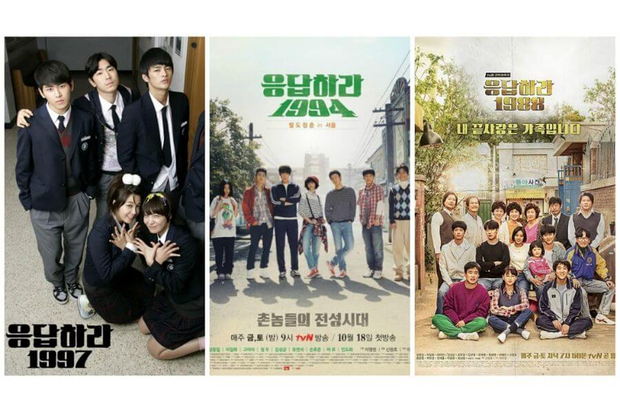Reply series: Reply 1997, 1994 and 1988